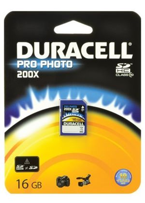 Duracell 16 GB Class 10 200x ProPhoto SDHC Memory Card