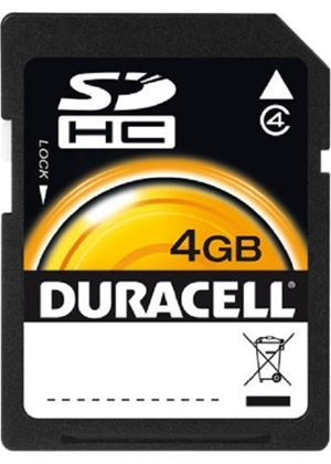 Duracell 4GB SDHC Class 4