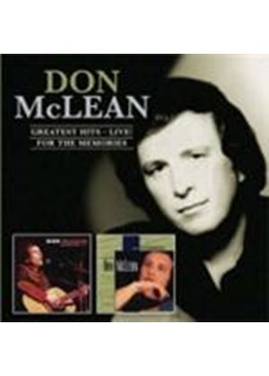 Don McLean - Greatest Hits Live/For The Memories (Music CD)