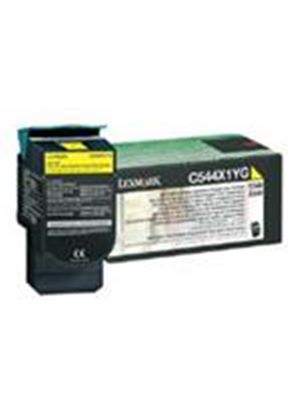 Lexmark Yellow Extra High Yield Return Program Toner Cartridge (Yield 4,000 Pages) for C544, X544 Colour Laser Printers