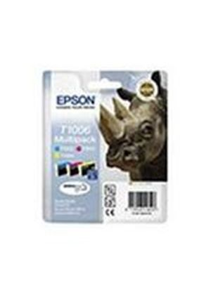 Epson DuraBrite Ultra T1006 Rhino Multipack 3 Colour Ink Cartridges (Cyan, Magenta, Yellow) for Stylus Offfice BX600FW, Stylus Office B40W