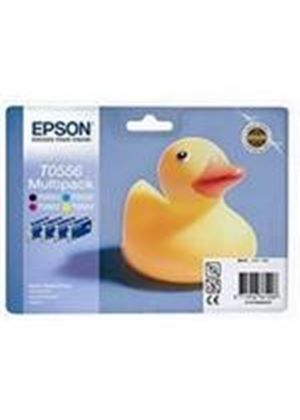 Epson T0556 Multi 4 Pack Ink Cartridges (Black/Cyan/Magenta/Yellow) for Stylus Photo R240/RX420/RX425 Printers