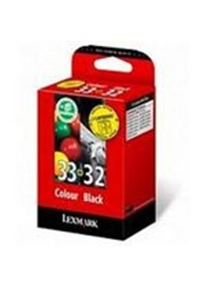 Lexmark Combo Pack No 32 & No 33 Black and Colour Print Cartridges