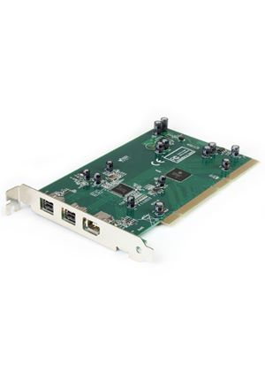 StarTech 3 Port IEEE-1394b FireWire 800 PCI Card with Digital Video Editing Kit
