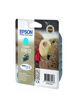 Epson T0612 Cyan Ink Cartridge (Blister Pack with RF)