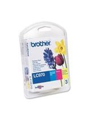 Brother LC-970RBWP Rainbow Pack Ink Cartridge (Cyan, Magenta, Yellow)