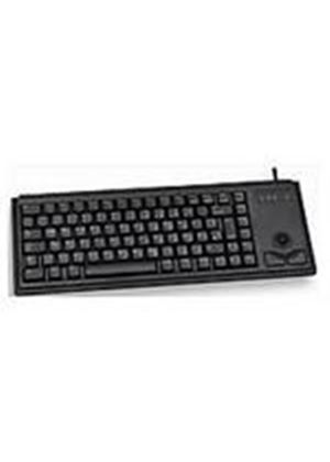 Cherry G84-4400 Compact Keyboard with Integrated Trackball - PS/2 (Black)