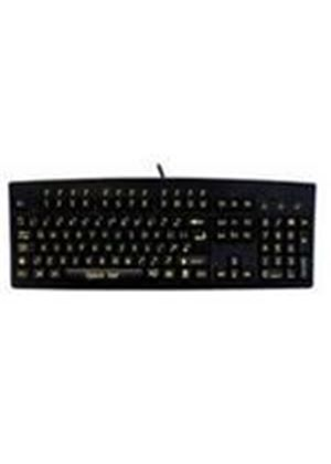 Accuratus 260 Black USB High Visibility Upper Case Keyboard