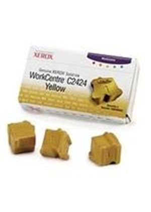 Xerox WorkCentre C2424 Solid Ink Yellow (3 sticks) Yield 3,400 Pages