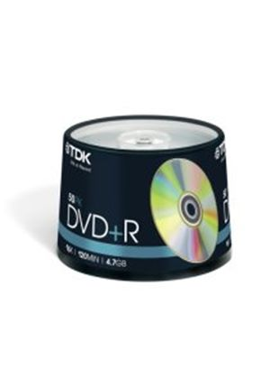 TDK DVD+R 4.7GB 16x Cakebox Spindle (50 Pack)