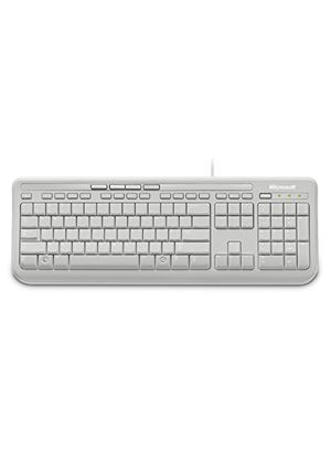 Microsoft Wired Keyboard 600 (White)