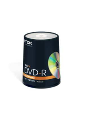 TDK DVD-R 4.7GB 16x Cakebox Spindle (100 Pack)