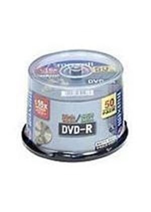 Maxell DVD-R Storage Media 4.7GB 16x Cakebox Spindle (50 Pack)