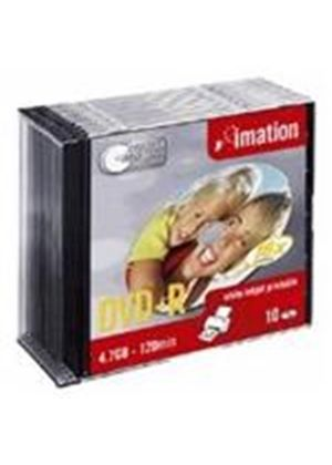 Imation DVD-R 4.7GB 16X White Inkjet Printable Slim Line Discs (10 Pack)