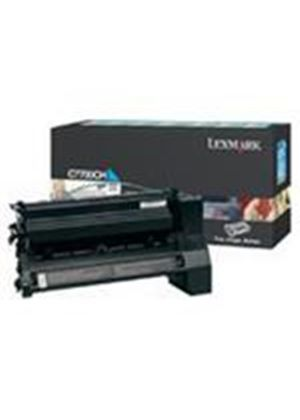 Lexmark Cyan High Yield Return Program Toner Cartridge (Yield 10,000 Pages) for C77X
