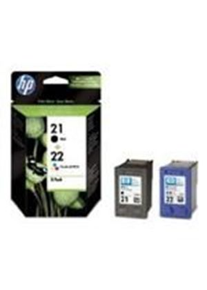 HP No. 21/22 Inkjet Print Cartridges (2 Pack - 1 x Black + 1 x Tri-Colour)
