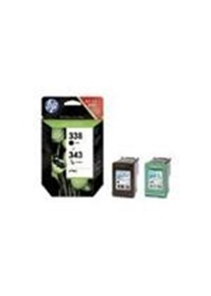 HP 338/343 Inkjet Print Cartridges (Combo-Pack)
