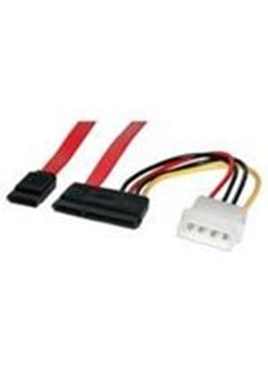StarTech Serial ATA / SATA cable - Serial ATA 150 - 7 pin Serial ATA, 15 pin SATA power - 4 pin internal power, 7 pin Serial ATA - 18in