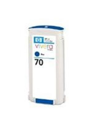 HP No.70 Blue Colour Ink Cartridge (130ml) with Vivera Ink