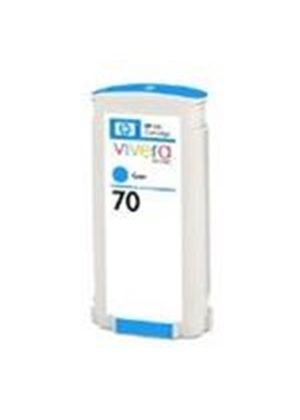 HP No.70 Cyan Colour Ink Cartridge (130ml) with Vivera Ink