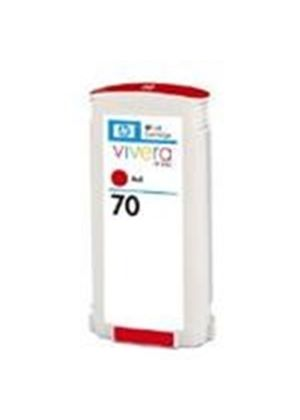 HP No.70 Red Colour Ink Cartridge (130ml) with Vivera Ink