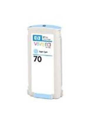 HP No.70 Light Cyan Colour Ink Cartridge (130ml) with Vivera Ink