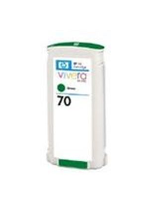 HP No.70 Green Colour Ink Cartridge (130ml) with Vivera Ink