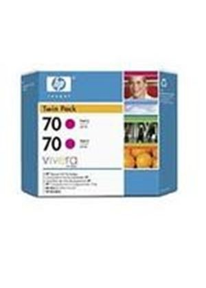 HP No.70 Magenta Ink Cartridge (130ml) Twin Pack with Vivera Ink