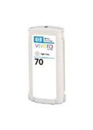 HP No.70 Light Grey Colour Ink Cartridge (130ml) with Vivera Ink