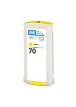HP No.70 Yellow Colour Ink Cartridge (130ml) with Vivera Ink