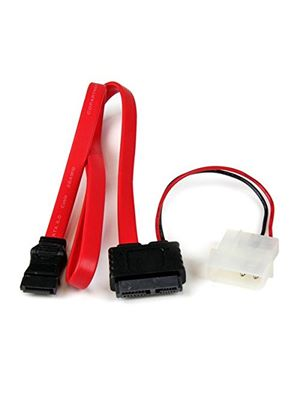 StarTech Slimline SATA Female to SATA with LP4 Power Cable Adaptor