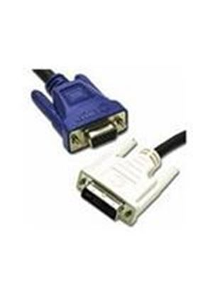 Cables To Go 5m DVI-A Male to HD15 VGA Male Analogue Video Cable