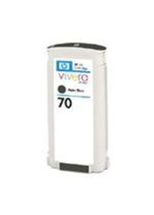 HP No.70 Matte Black Ink Cartridge (130ml) with Vivera Ink
