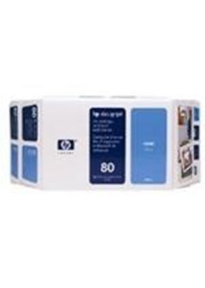 HP No.80 Ink System Cyan 350ml for DesignJet 1050 Series