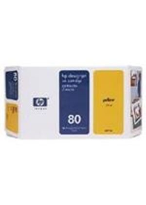 HP No.80 Ink System Yellow 350ml for DesignJet 1050C & 1055CM