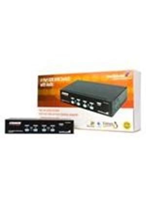 StarTech USB KVM Switch With Audio - KVM / audio / USB switch - USB - 4 ports - 1 local user - 1U