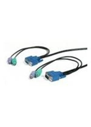 StarTech PS/2 Ultra-Thin 3-in-1 KVM Cable (15m)