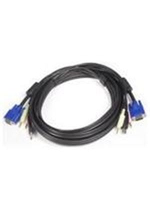 StarTech 4-in-1 USB/VGA/Audio and Microphone KVM Switch Cable (3m)