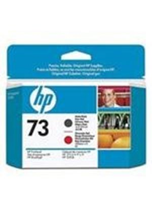 HP No.73 Matte Black and Chromatic Red Printheads