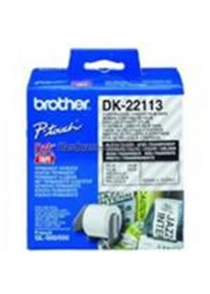 Brother 62mm wide Continuous Clear Film Tape (15.24m)