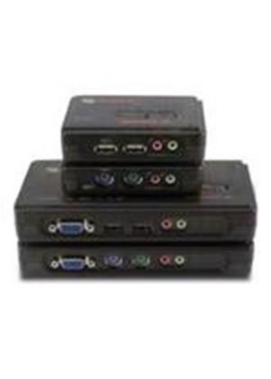 Avocent SwitchView 100 Series 4 Port USB Desktop KVM Switch with Audio Cable Sets