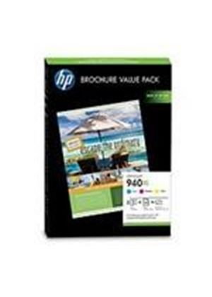 HP 940XL Officejet Brochure Value Pack (Includes Ink, Glossy Paper and Templates) - 100 Sheets 210 x 297mm