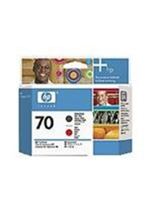 HP No.70 Matte Black/Red Printhead