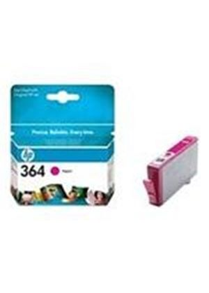 HP No.364 (Magenta) Photo Ink Cartridge (Yield 300 Pages) with Vivera Ink