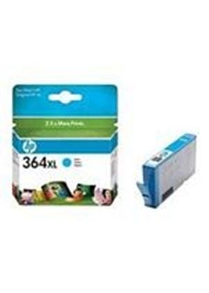 HP No.364XL (Cyan) Photo Ink Cartridge (Yield 750 Pages) with Vivera Ink