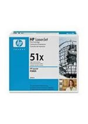 HP 51x Black Toner Cartridge (Yield 13,000 Pages) with Smart Printing Technology for LaserJet P3005/M3035mfp/M3027mfp