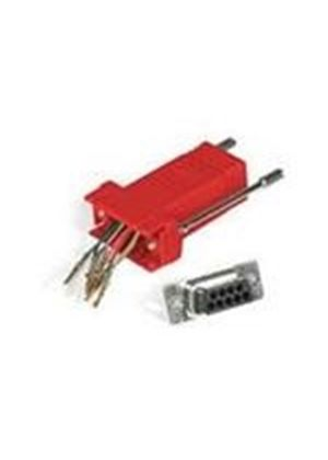 Cables To Go RJ45/DB9M Modular Adaptor (Red)
