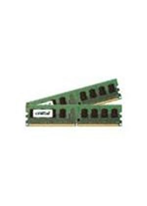 Crucial 2GB (2 x 1GB) PC2-5300 667MHz DDR2 240-pin DIMM CL5 Unbuffered ECC Memory Module Kit