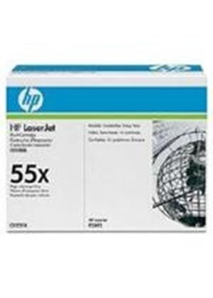 HP 55X LaserJet Black Print Cartridge with Smart Printing Technology