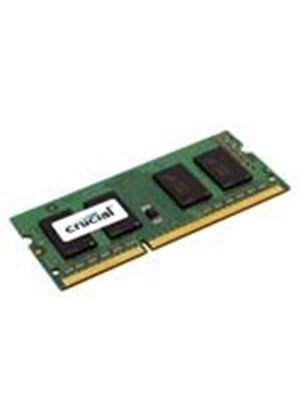 Crucial 1GB Memory Module PC3-8500 1066MHz DDR3 Unbuffered Non-ECC CL7 204-pin SO-DIMM
